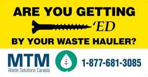 BC Billboards Kelowna - MTM Waste Billboard